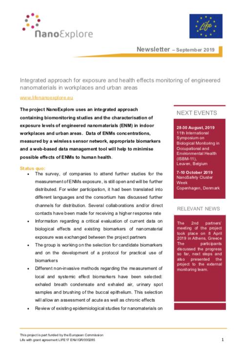 NanoExplore September 2019 Newsletter
